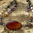 Amber, Lilac and Citrus Necklace