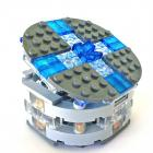 LEGO JEWELRY BOX  Amber and Lapis Gemstones