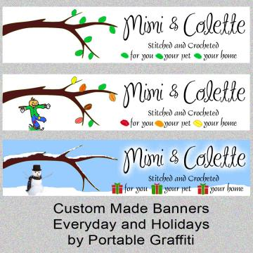 3 Zibbet Banners - Everyday and 2 Seasonal