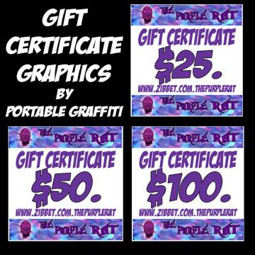 Gift Certificate Graphics for Your Shop