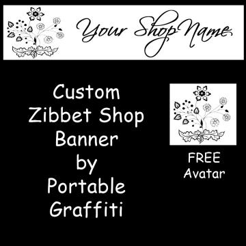 Zibbet Banners for Your Shop - Custom Zibbet Banner