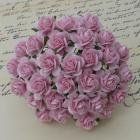 25mm baby Pink Roses, Set of 10