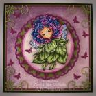 Hydrangea Sprite OOAK Handmade Greeting Card by AJ's Designs