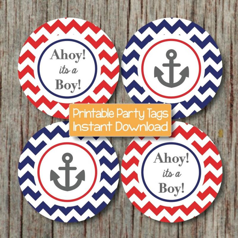 Nautical Baby Shower Printable Decorations Baby Shower Nautical