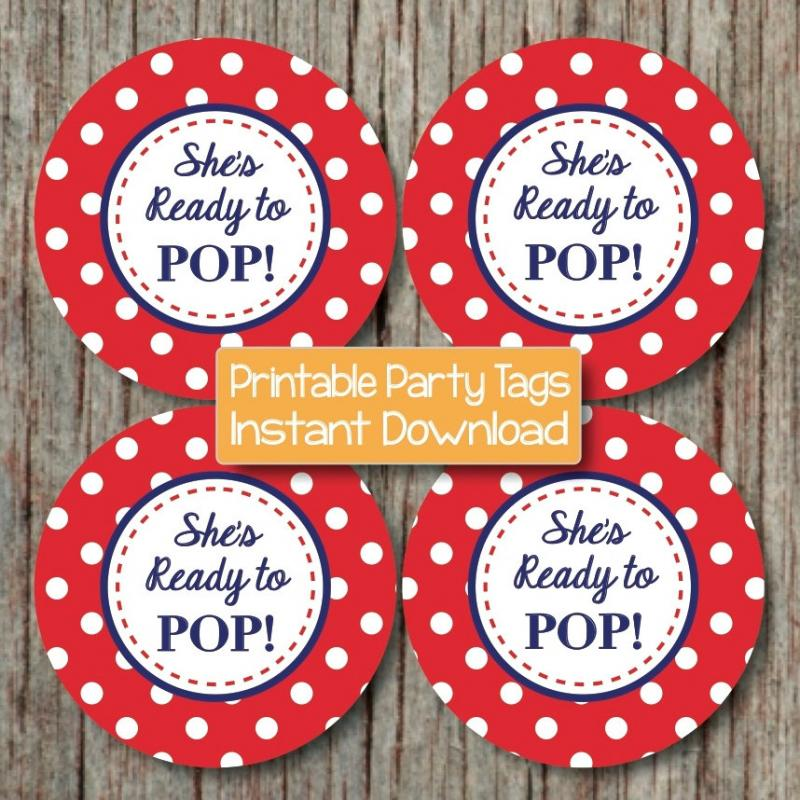 Shes About To Pop Printable Labels | just b.CAUSE