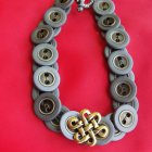 Pewter Button Bracelet