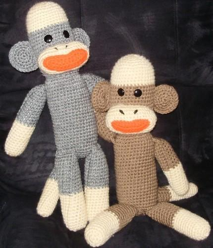 Crochet Sock Monkey - SpottedCanary.com - Where Ideas Take Flight