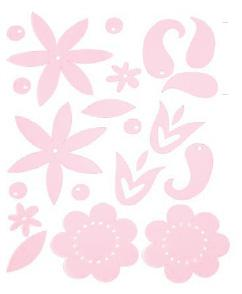 Heidi Swapp Gel Blossoms - Light Pink