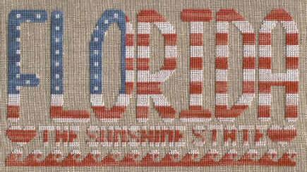 The U.S.S. Arizona Memorial Counted Cross Stitch Pattern by
