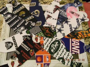 Football Tie/Heart Applique
