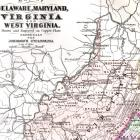 1896  Maryland  Delaware Virginia West Virginia Copper Engraved Map