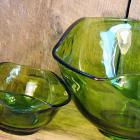 Sixties Chip And Dip Set Avocado Green Vintage Party-ware