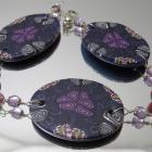 Purple Kaleidoscope Medallion Bracelet