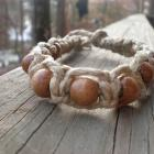 Wooden Bead Hemp Anklet