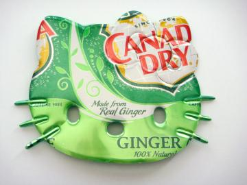 Canada Dry Soda Can Hello Kitty Brooch