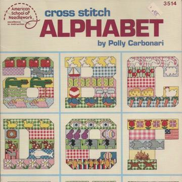 Cross Stitch Alphabet Vintage Pattern Book
