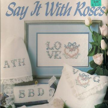 Say It With Roses Cross Stitch Leaflet