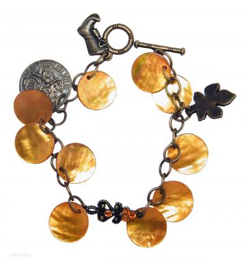 Exotic Flavour Bracelet - Orange Mother Of Pearl
