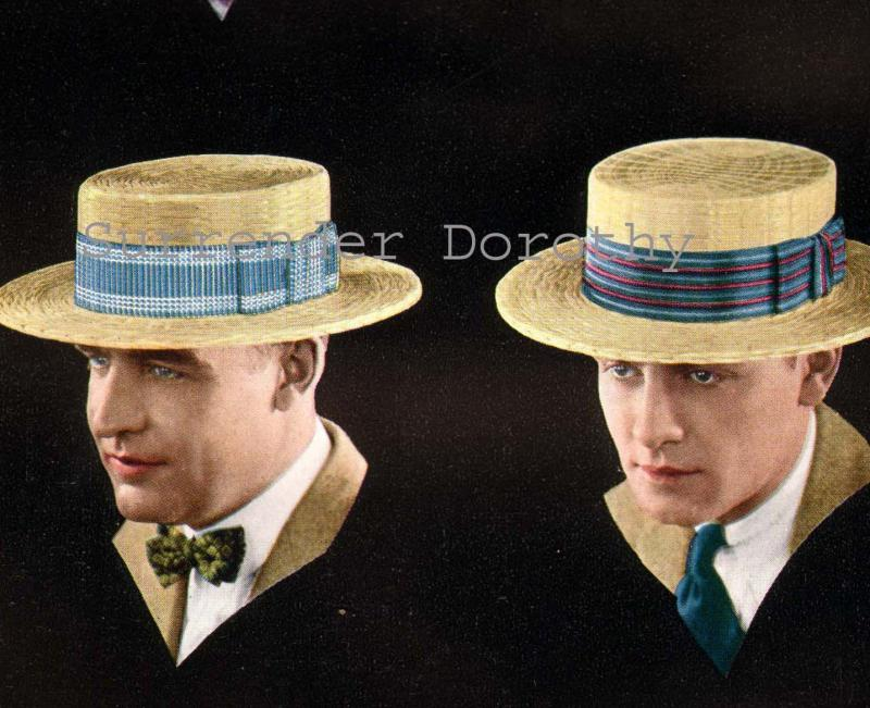 Straw Hats For Men Men 39 s Straw Hats 1920s
