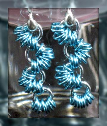 Winding River Chainmaille Earrings by Xquisitely Lady M