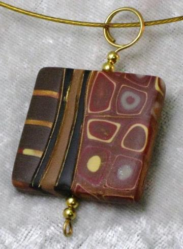Earthy Mod Landscape Pendant