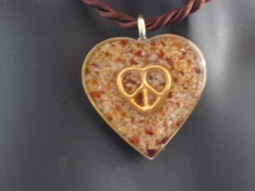 Peace Heart on Orange Spice