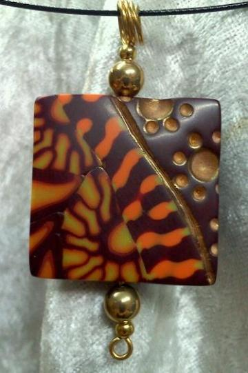 Orange and Yellow Twin Suns Pendant
