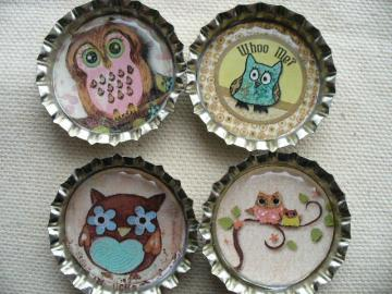 Who Me . . .  Owl Magnets