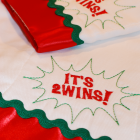 Burp Cloth:  TWINS