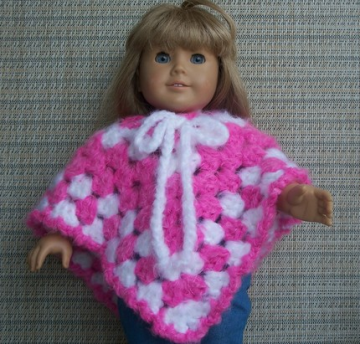 American Girl Doll Poncho - Super Soft Pink