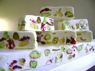 Nougat - SAMPLER of SIX FLAVORS - Almond and Pista