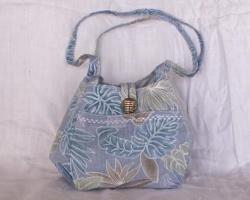 Bento Purse / Lunch Bag - Hawaiian Floral Print