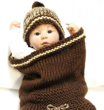 Knitting Pattern, Baby Cocoon & Matching Beanie, Cocoon is featured