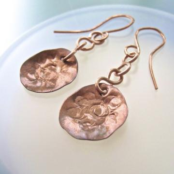 Handmade Copper Earrings - Dangling Doodles