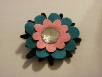 Wool Felt Flower Clippie (Z129)