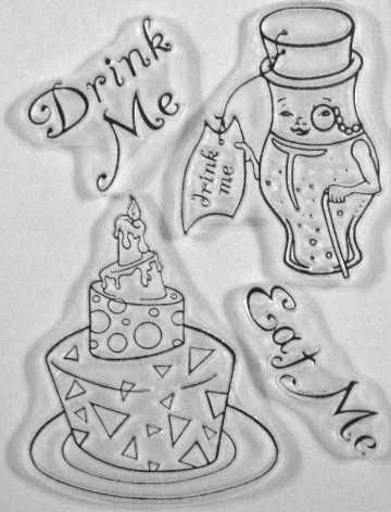 Seren's Eat and Drink me clear stamps