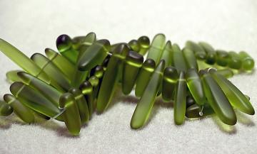 Forest Daggers- recycled sea glass beads