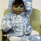 Baby Girls Sweater Set - Blue and White
