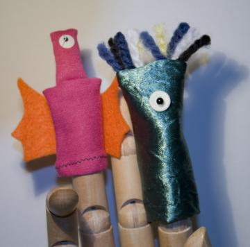 Playful Aliens Finger Puppet Pair
