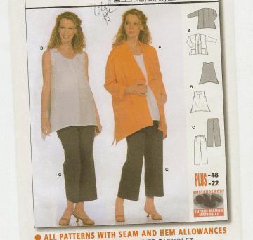Wearable Art Jacket, Creative Clothing Pattern McCalls 632 Size 8