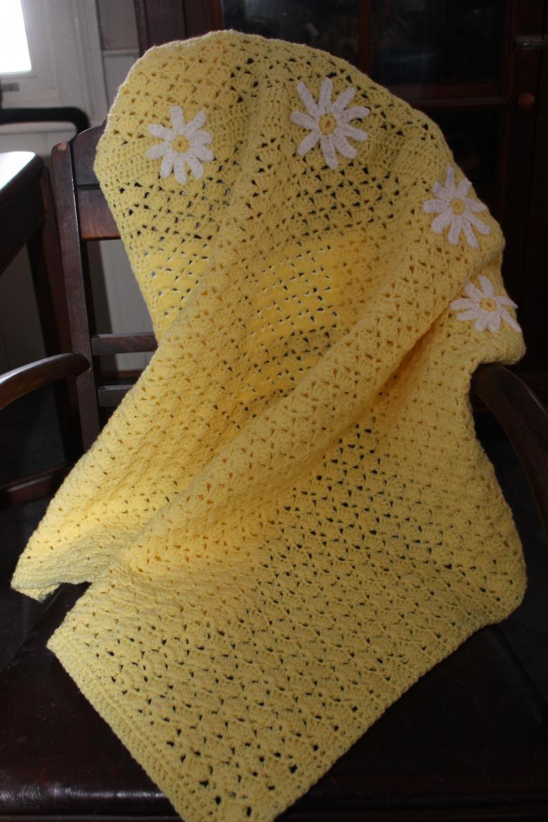 Crochet Daisy Baby Blanket Pattern : #
