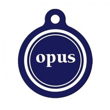 Opus Custom Name and Color Pet Tag, Luggage Tag, Child ID Tag
