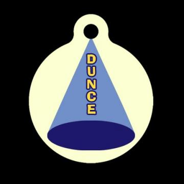 Dunce Cap Tag, Luggage Tag, Child ID Tag