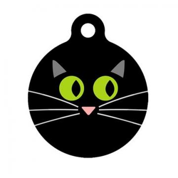 Cat Face Pet Tag, Luggage Tag, Child ID Tag
