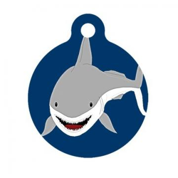 SHARK Pet Tag, Luggage Tag, Child ID Tag