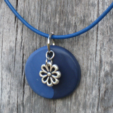 Flower Charm Polymer Clay Necklace