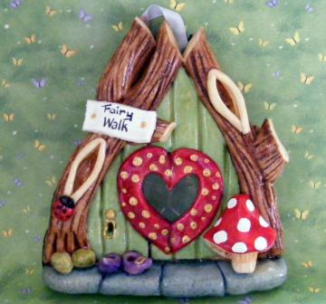 Heart fairy Door
