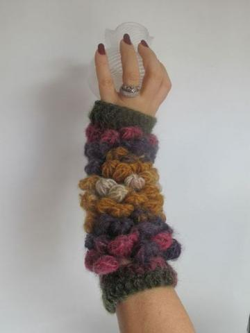 Crochetted mittens for precious ladies..OOAK