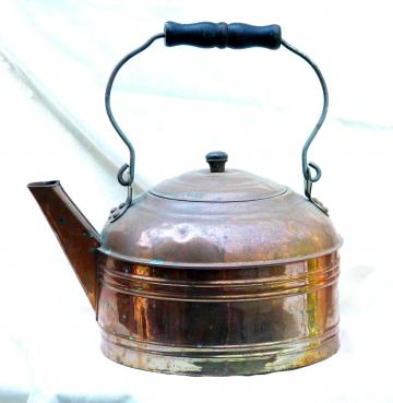 Farmhouse Copper Tea Kettle Great Patina