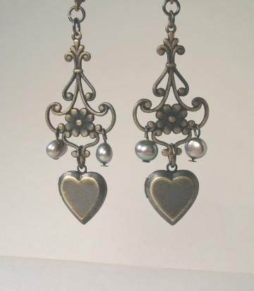 gothic valentine earrings